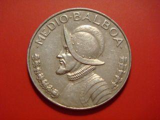 Panama 1/2 Balboa,  2001,  Vasco Nunez De Balboa photo