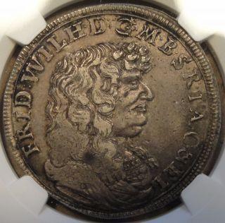 Brandenburg 1683 - Ie 2/3 Taler Ngc Xf40 Km - 510 photo