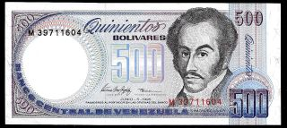 World Paper Money - Venezuela 500 Bolivares 1995 Serie M8 P67e @ Crisp Xf photo