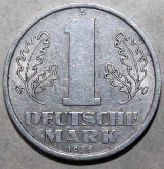 East German 1 Ostmark Coin,  1956 A - Km 13 - Germany Ddr Deutsche Mark One photo