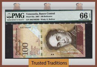 Tt Pk 93a 2007 Venezuela 100 Bolivares