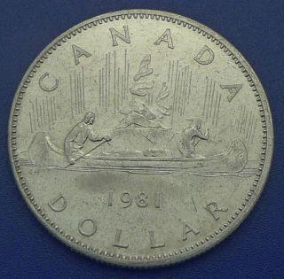 Canada / 1981 / Voyageur / 1 Dollar Coin photo