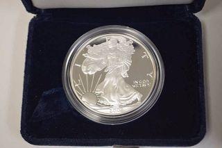 2002 - W 1 Oz Proof Silver American Eagle $1 Coin.  999 photo