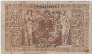 Baranya Bajai Szerb Magyar Köztársaság Stamp - 1000 Mark 1910 - Reichsbanknote photo