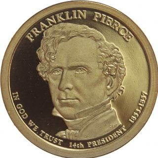 2010 S Franklin Pierce Presidential Dollar Gem Deep Cameo