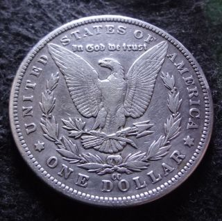 1890 - Cc Morgan Silver Dollar - Solid Vf,  Details From The Carson City photo