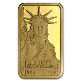5 Gram Statue Of Liberty Credit Suisse Gold Bar - Sku 45922 photo