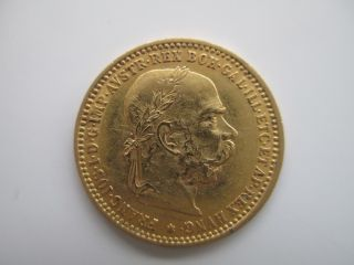 1896 Austria 10 Corona Gold Coin. photo