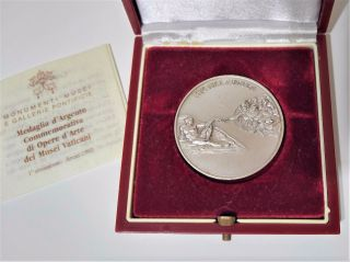 1992 Vatican Italy Musei Vaticani Michelangelo Medal Silver Coin W/papers photo