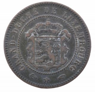 1855 Luxembourg 5 Centimes Coin Grand Duche De Luxembourg See Hd Photos photo