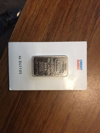 1 Oz Palladium Bar Credit Suisse With Assay photo