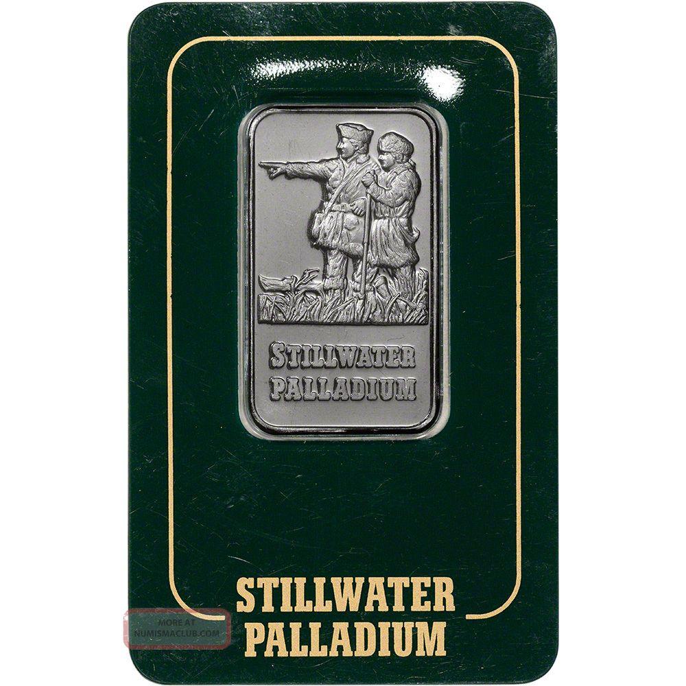 1 Oz.  Palladium Bar - Johnson Matthey Stillwater - 999.  5 Fine In Vintage Assay Bullion photo