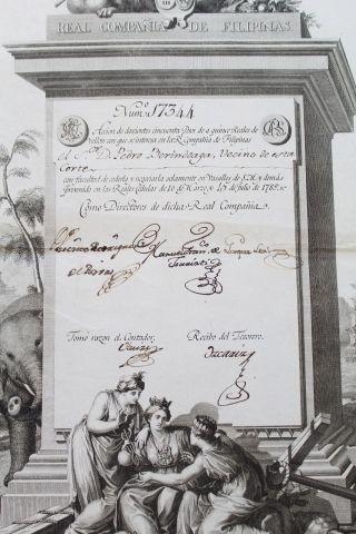 1785 Spanish Share - Philippines Royal Company - Real CompaÑia De Filipinas photo