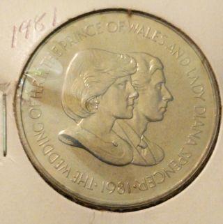 Vintage 1981 Falkland Islands 50 Pence Royal Wedding Unc Gem Lady Princess Diana photo