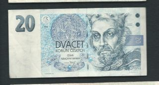 Czech Republic 1994 20 Korun P 10b Circulated photo