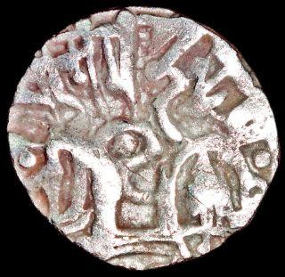 Ancient - Hindu Shahi - Samanta Deva - Horse & Sacred Cow (850 - 1000) Silver Mb34 photo
