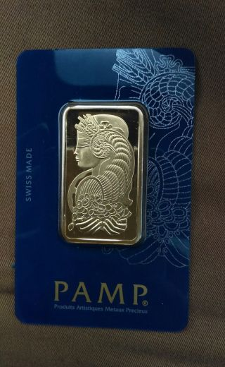 1 Oz Pamp Suisse Gold Bar.  9999 Fine 31.  10 Grams (in Assay) photo