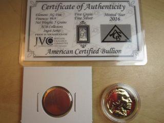 Gold Silver Copper Investment.  999 Fine Ingot Bullion Bar Nickel Coin Round photo