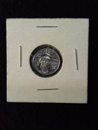 1999 1/10 Oz $10 Platinum American Eagle - Bu - Bbi 1396 photo