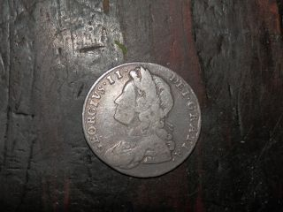 1732 Sixpence,  British Silver Coin From George Ii - photo
