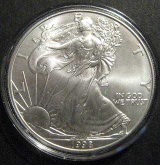 1998 1 Oz Silver American Eagle photo