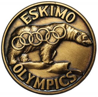 1967 Alaska Eskimo Olympics Chamber Of Commerce So - Called Dollar Medal Unlisted photo