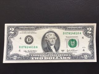 $2 2003 Two Dollar Bill Note,  Cleveland,  Circulated, photo