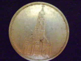 1934h Potsdam Church German Nazi Swastika 90 Silver Germany 3rd Reich 5 Mark Ww photo
