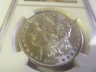 1884 - O Morgan Silver Dollar Ngc Ms 65 photo