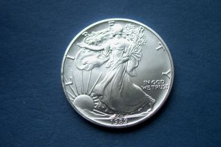 1989 American Eagle 1 Ounce Silver Dollar Coin Choice Bu photo