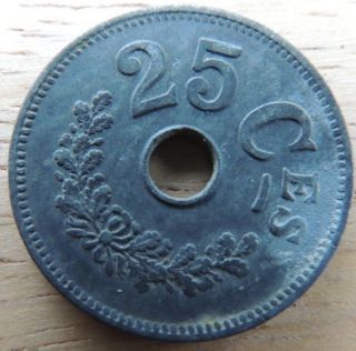 Luxembourg 1916 Zinc 25 Centimes Xf Km - 29 Invest photo