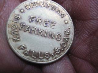 Sioux Falls South Dakota In Trade Token Downtown Parking Brass Circulated photo