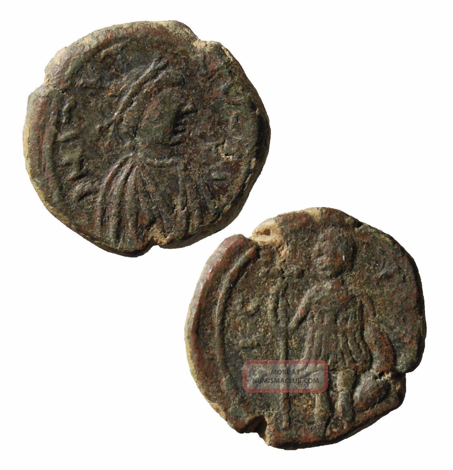 Skif Ae Justin I (518 - 527) Pentanummium Cherson Sb 112b Coins: Ancient photo