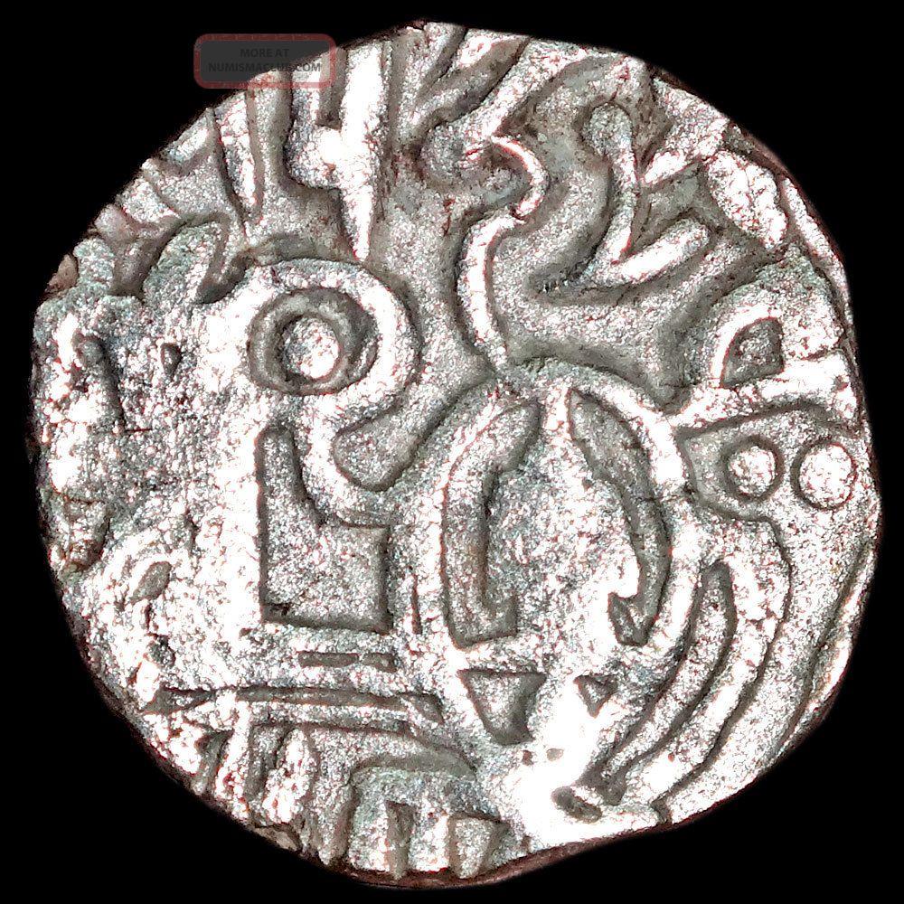 Ancient - Hindu Shahi - Samanta Deva - Horse & Sacred Cow (850 - 1000) Silver Mb48 India photo