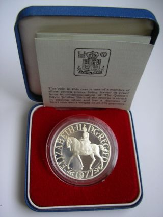 Great Britain Queen Elizabeth Ii 1977 Silver Jubilee,  Silver Proof Crown photo
