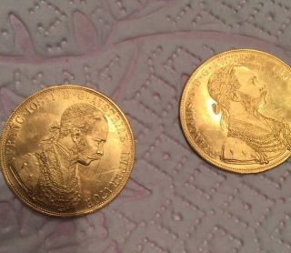 Pendant 1915 Franc Ios Idg Avstriae Imperator Lod Rex Hvngar Bohem 2 Coin photo