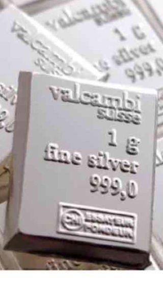 1 Gram Silver Bar - Valcambi photo