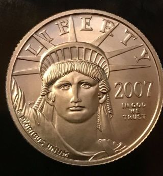 2007 - W 1/4 Oz Burnished Platinum American Eagle photo