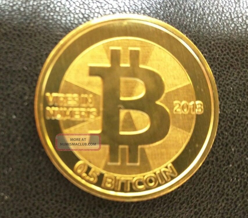 2013 Casascius Coin Brass Half Btc Loaded 0.  5 Coins: World photo