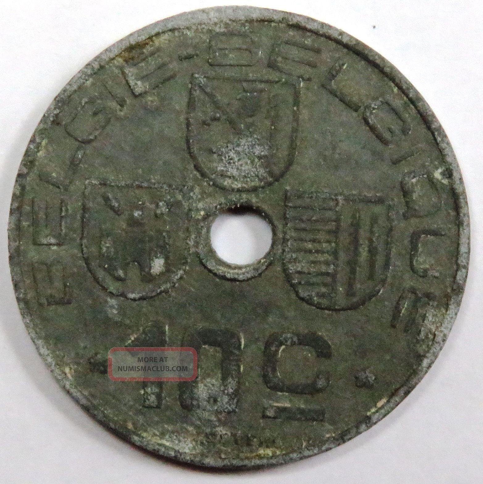 C002 - 09 Belgium | 10 Centimes,  1946,  G Europe photo