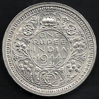 British India - 1944 - King George Vi Emperor - One Rupee - Bombay - Rare photo