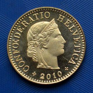 Switzerland 5 Rappen 2010.  Km26c.  European Coin.  Uncirculated.  1pcs. photo