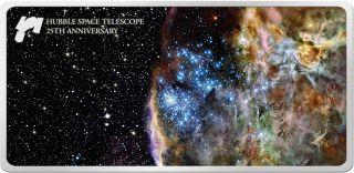 Hubble Space Telescope 25th Anniversary Samoa 2015 1 Oz Silver Prooflike.  On photo