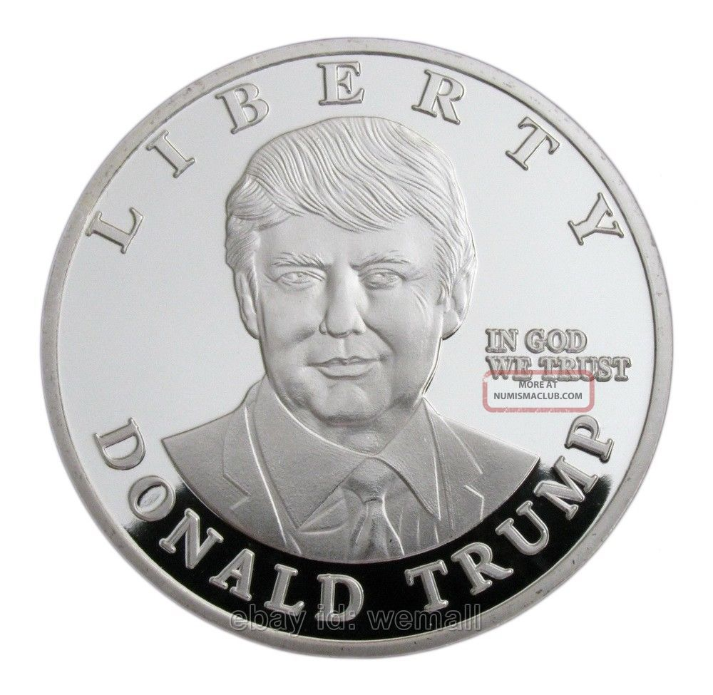 Donald Trump,  Us Presidential Candidates,  Statue Of Liberty,  Silver Coin Token Coins: World photo