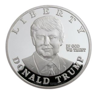Donald Trump,  Us Presidential Candidates,  Statue Of Liberty,  Silver Coin Token photo