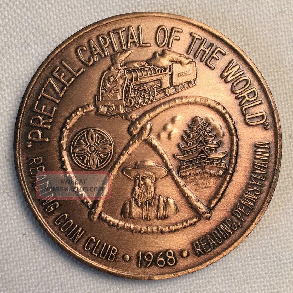 1968 Penn - Ohio Coin Club Token - Reading Pa Pretzel Capital Ch53 Exonumia photo