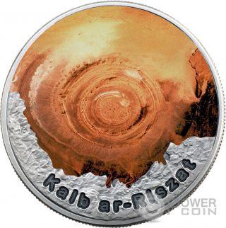 Eye Of The Sahara Circle Of Secrets 1 Oz Silver Coin 2$ Niue 2016 photo