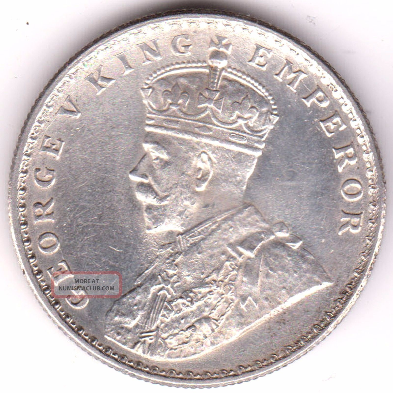 British India 1919 King George 5 One Rupee Rare Silver Coin 11 British photo