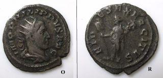 Philip I Bronze Antoninianus Coin 244 - 249 Ad - Head / Fides Exercitus photo