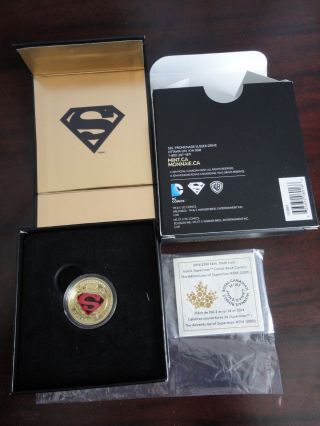 2014 $100 Canada Superman Gold Coin: Adventures Of Superman 596 (2001) No Tax photo